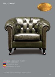 Chesterfield sessel Hampton in Rindleder