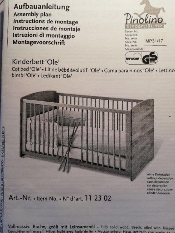 Babybett Kinderbett Pinolino Ole