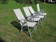 4 Leichte Gartenstühle