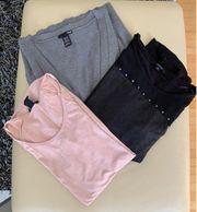 Strickweste 2 Shirts XS S
