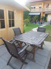 Ausziebarer Gartenholztisch zu verkaufen