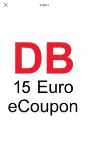DB Deutsche Bahn - 15 Euro