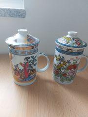 Chinessische Tassen mit 2 Motiven