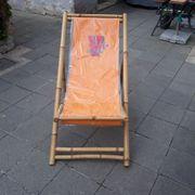 Liegestuhl - Bambus - Veltins-Werbung