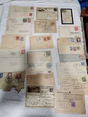 Alte Postkarten Briefe mit Marken