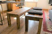 Stilvolle Holzbank 1 übrig