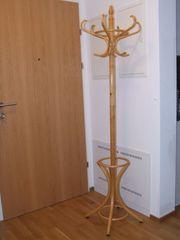 Holz Garderobe mit Schirmständer