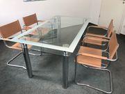 Esstisch mit Glasplatte 4 Stühle