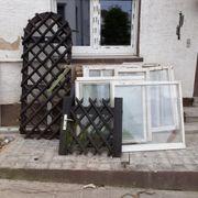 Holzfenster teilweise Doppelglas und zwei