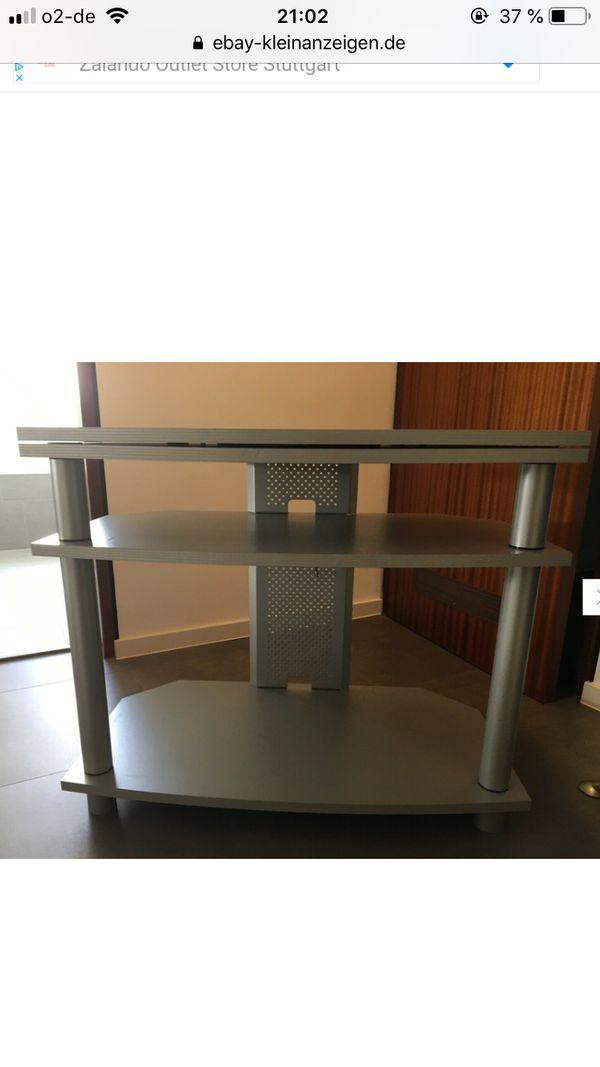 Gut erhaltener moderner TV-Tisch grau