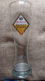 2x Weizenbierglas Palmbräu Weizenglas Bier