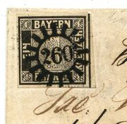 Altdeutschland Bayern Schwarzer Einser Brief