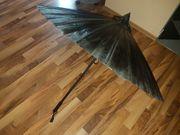 Chinesischer Schirm schwarz neu