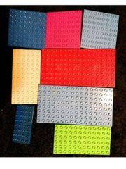 8 X Lego duplo bauplatten