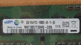 Mainboards, CPUs, Speicher - 2 Samsung M471B5773DH0-CH9 Notebookspeicher 1333