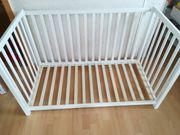 Babybett Gitterbett aus Holz ohne