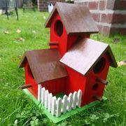 Vogelhaus Nistkasten Futterhaus handbemalt