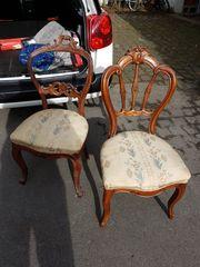 4 restaurierungsbedürftige Louis-Philippe-Stühle zu verkaufen