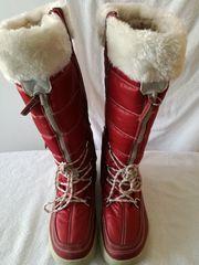 Rote Schneestiefel Winterboots für Damen