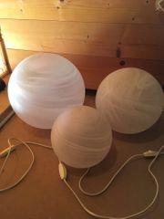 Licht Glaskugeln 3 verschiedene Größen