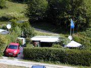 Wohnwagen feststehend auf Campingplatz