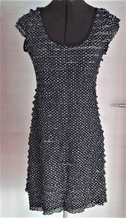 Damenkleid Tupfenkleid s w Gr