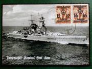Postkarte Deutsches Reich Kriegsmariene Briefmarken