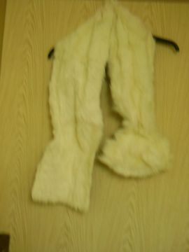Leder-/Pelzbekleidung, Damen und Herren - kuscheliger Fell - Schal - Krawattenschal