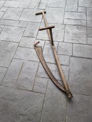 Alte Holz Sense zur Deko