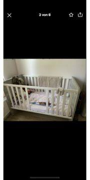 Babybett inkl Matratze neu Himmel