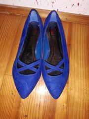 Blaue Ballerinas Größe 39