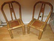 2 Stück Bambus Stühle für