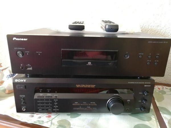 Sony Receiver und Pioneer CD