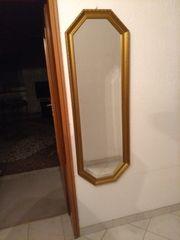 Spiegel mit Messingrand