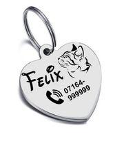 Personalisierte Katzenmarke versch Designs u