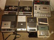 Cassettenrecorder 15 Stück plus Mikrofone