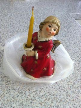 GÖBEL ENGEL Weihnachtsengel mit Kerzenhalter