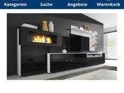 Moderne Wohnwand mit Ethanolofen
