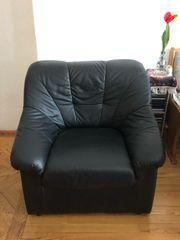 Sofa Ledergarnitur bestehend aus 4-Sitzer