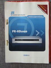 Bedienungsanleitung für Digital-Sat-Receiver HUMAX PR-1000
