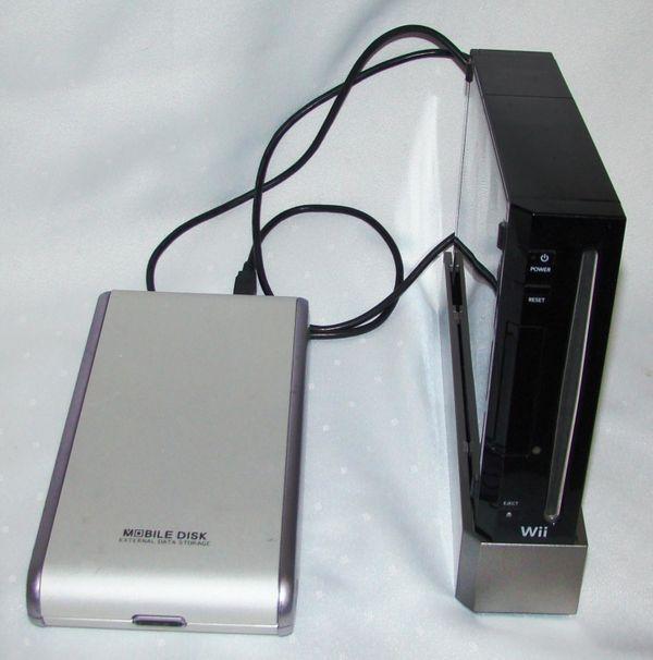 Wii schwarz -39 Spiele - USB Festplatte