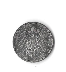 Münzen - 3 Mark Münze Silber 1914