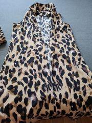 Hose mit Weste in Leopardenoptik