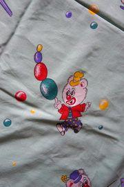 Kinderbettwäsche Babybettwäsche Bettzeug Clown Teddybär