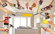 Reparatur- und Bauarbeiten im Raum