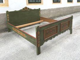 Voglauer Landhaus ANNO Bett grün: Kleinanzeigen aus Wiener Neustadt - Rubrik Stilmöbel, Bauernmöbel