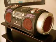 BoomBox CD-PlayerPitch Control Drummachine Gitarrenverstärker