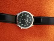 Herren Armbanduhr mit Kunstleder Armband