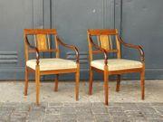 Paar Armlehnsessel Empire Stil Stuhl