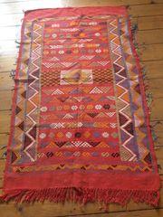 Kelim Teppich Marokko rot
